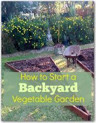 to start a backyard vegetable garden