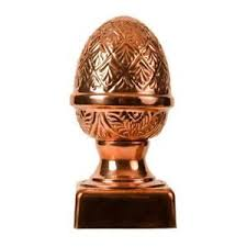 Fence Post Cap Slip Over Copper Pineapple Outdoor Decorative Fencing 4 X 4 Inch 702679493977 Ebay