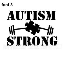 Autism Strong Car Decal Amy S Bubbling Boutique