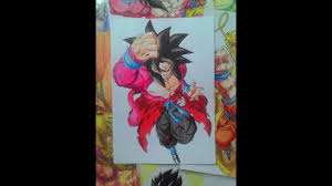 Drawing Goku Xeno SSJ4 Super Dragon Ball Heroes YouTube - YouTube