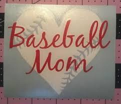 Baseball Mom Heart Decal For Your Yeti Rambler Tumbler Rtic Window Ebay