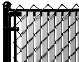 Chain Link Gray Double Wall Tube Privacy Slat For 7ft High Fence Bottom Ebay