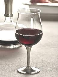 crystal pewter wine tasting glass