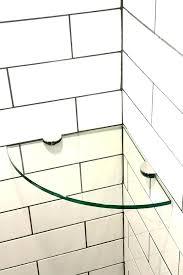 small glass shower shelves showers