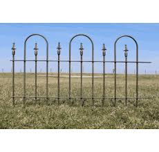 2 Tall Wrought Iron Garden Fence Antique Landscape Border