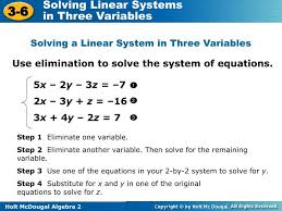 ppt use elimination to solve the