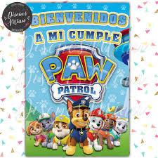 25 Invitaciones 10x15 Cumpleanos Patrulla Canina Paw Patrol
