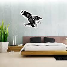 American Bald Eagle Wall Decal Large Vinyl Sticker 25 X 21 Ebay