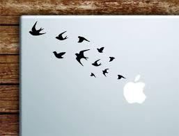 Birds Flying Laptop Wall Decal Sticker Vinyl Art Quote Macbook Apple D Boop Decals