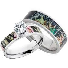 women realtree camo wedding ring with