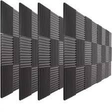 Beiyin 50pack Wedge Fireproof Acoustic Foam Soundproof Panel Recording Studio Noise Cancellation Soundproofing Sponge Black 30x30x2 5cm Intl Lazada Ph