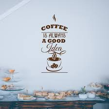 Coffee Wall Decal Quote Wall Art Sticker Decor Decals Market