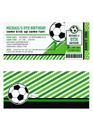 Football Soccer Ticket Pass Birthday Party Invitation Decoracion
