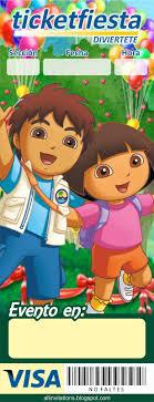 Plantilla Invitacion Ticketmaster Diego Y Dora Plantillas Para