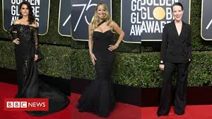 golden globes 2018 stars wearing black