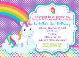 Rainbow Unicorn Birthday Party Invitations Unicorn Is Love