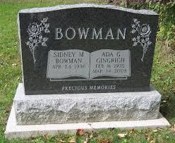 Ada Bowman (Gingrich) (1935 - 2009) - Genealogy