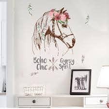 Colorful Horse Removable Vinyl Decal Mural Home Decor Wall Sticker Walmart Com Walmart Com