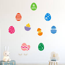 Happy Easter Rabbit Vinyl Decal Art Wall Sticker Mobile Creative Wall Affixed With Decorative Wall Window Decoration Home Wall Stickers Aliexpress