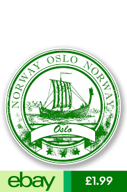2 X 10cm Oslo Norway Vinyl Sticker Decal Laptop Car Travel Luggage Tag 5931 Compass Drawing Custom Stamps Stamp