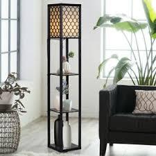 Column Floor Lamp Living Room Bedroom Kids Room Office 63 Tall 3 Display Shelves Ebay