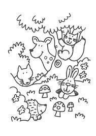 Ons Dier En De Dieren Van Het Bos Kleurplaten Herfst Herfst Kunst