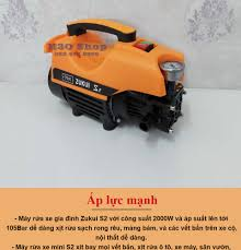 Máy rửa xe ZUKUI S2 - 2000W - máy rửa xe mini - máy rửa xe gia đình - máy  xịt rửa cao áp - máy rửa xe áp lực cao -