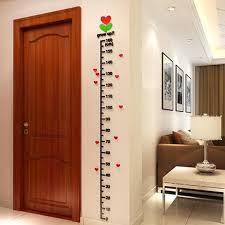 Children Height Measure Stickers 3d Funny Diy Acrylic Height Chart Sticker For Kids Room Wall Door Decorations For Living Room Price In Saudi Arabia Souq Saudi Arabia Kanbkam