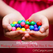 candy wedding anniversary gifts