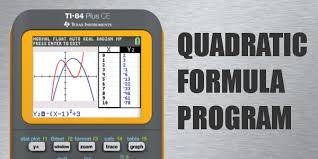 quadratic formula program for ti 84