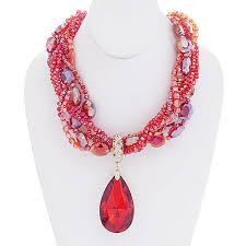 teardrop crystal pendant beaded