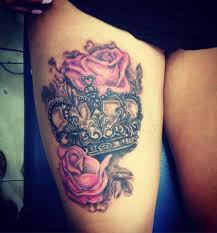 Pin by Adele Jacobs on my jobs | Crown tattoos for women, Thigh tattoos  women, Sleeve tattoos for women
