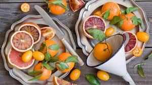 orange fruit plate quat mandarin