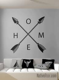 Crossing Arrows Home Wall Decal Native American Decor Etsy