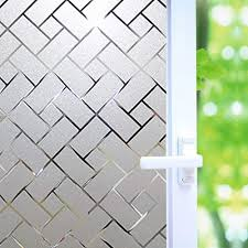 Amazon Com No Glue Privacy Window Film Frosted Window Tint Stained Glass Static Cling Window Decal Privacy Protection Heat Control Anti Uv For Home Office 17 7x78 7 Inch Home Kitchen