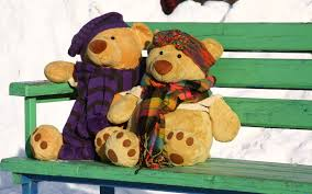 cute love mood romance snow teddy