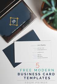 5 free modern business card templates