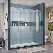 custom inline frameless shower doors
