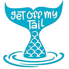 Amazon Com Kcd Get Off My Tail Mermaid Vinyl Decal Sticker Cars Trucks Vans Suvs Walls Cups Laptops 5 Inch Light Blue Kcd2626lbl Automotive
