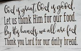 God Is Great God Is Good Wood Sign Dining Room Wall Art Dinner Pray Wally S Wood Crafts Llc