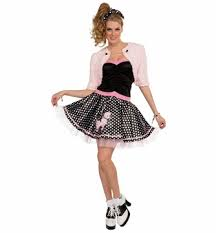 deluxe poodle skirt and shrug costume