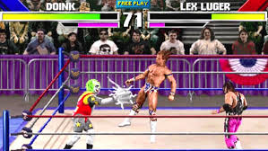 wrestling video game from one image