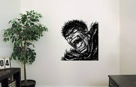 Amazon Com Guts Vinyl Wall Decals Rage Band Of The Falcon Hero Anime Berserk Japan Manga Comics Decal Sticker Vinyl Murals Decors Il0870 Home Kitchen