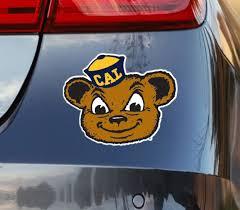 California Berkeley Vintage Golden Bear Logo Car Decal Nudge Printing