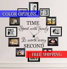 Time Spent With Family Is Worth Every Second Wall Decal Etsy