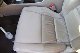 how to remove leather car seat stains