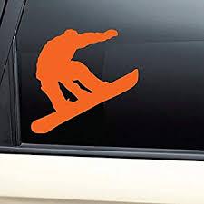 Amazon Com Nashville Decals Snowboarding Snowboarder Snowboard Vinyl Decal Laptop Car Truck Bumper Window Sticker Orange Automotive