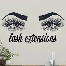 Wall Window Decal Sticker Eye Eyelashes Lashes Extensions Brows Vinyl Wall Stickers Beauty Salon Quote Home Decor Interior G09 Wall Stickers Aliexpress