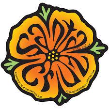 Decal Poppy Santa Cruz Sticker By Tim Ward