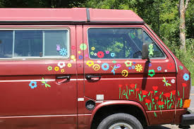 Poppy Flower Car Stickers Stickers